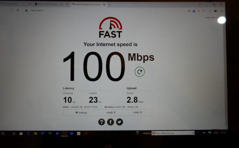 Three Broadband 5G.  Atrocious upload